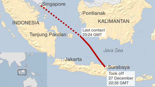 AirAsia Indonesia flight 8501 to Singapore missing